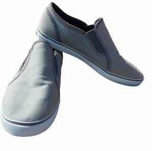 Vans gray slip on sneakers size 6